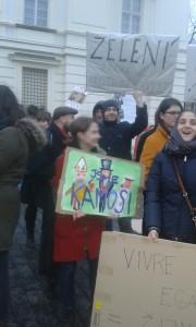 Demonstrace proti Martinu Konvičkovi, 16. 1. 2015
