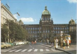 Václavské náměstí s tramvajemi, 1970. Z archivu Stanislava Sojky